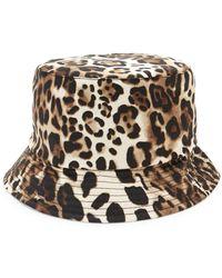 26b79a235b23e Helene Berman - Leopard-print Bucket Hat - Lyst