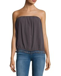 Lamade - Strapless Tassel-accented Top - Lyst