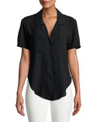 1.STATE - Tie-front Buttoned Blouse - Lyst