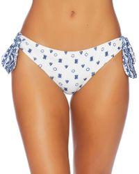 Splendid - Sash Tie Retro Bikini Bottom - Lyst