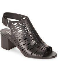 Karl Lagerfeld | Hillary Lasercut Slingback Sandals | Lyst