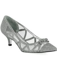 Adrianna Papell - Lana Mesh Bow Pointy Court Shoes - Lyst
