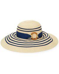 Lauren by Ralph Lauren - Striped Sun Hat - Lyst