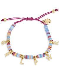 BCBGeneration Grl Pwr Affirmation Multi-colored Bead Charm Bracelet