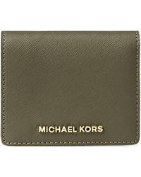 MICHAEL Michael Kors - Jet Set Leather Travel Flap Card Holder - Lyst