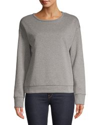 Lord & Taylor - Sparkling Speckled Cotton Sweatshirt - Lyst