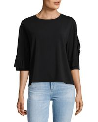 Lord & Taylor - Ruffled Sleeve Top - Lyst