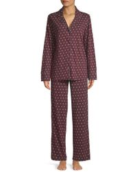 Lord & Taylor - Two-piece Printed Cotton Pajama Set - Lyst