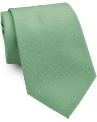 Lord & Taylor - Dotted Silk Tie - Lyst