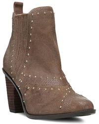 Fergie - Dina Studded Suede Ankle Boots - Lyst