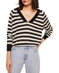Mango - Penny Striped Jersey Jumper - Lyst