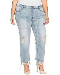 William Rast - Plus My Ex's Distressed Cotton Jeans - Lyst