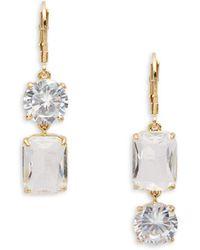 Kate Spade - Shine On Geo-shaped Drop Earrings - Lyst