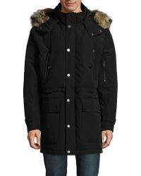 Pendleton - Fur-trimmed Coat - Lyst