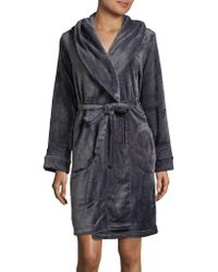 Sesoire - Long Sleeve Fleece Robe - Lyst