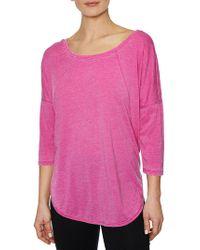 Betsey Johnson - Crisscross Back T-shirt - Lyst