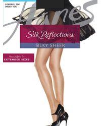 Hanes - Silk Reflections Silk Control Top Satin Finish - Lyst