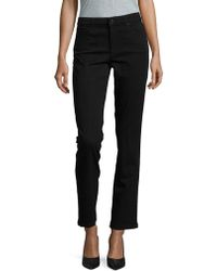 Jones New York Dark Straight-fit Jeans - Black