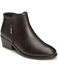 Aerosoles - Mythology Leather Moto Ankle Boots - Lyst