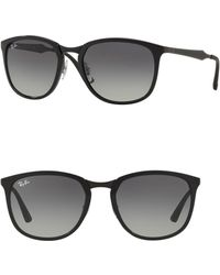 b9bdedc26fe Ray-Ban - 50mm Liteforce Gradient Round Sunglasses - Lyst
