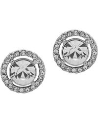 Givenchy - Silvertone And Crystal Stud Earrings - Lyst