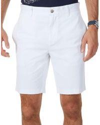 Nautica - Slim-fit Flat Front Shorts - Lyst