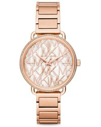 Michael Kors - Portia Rose Goldtone Stainless Steel Bracelet Watch - Lyst