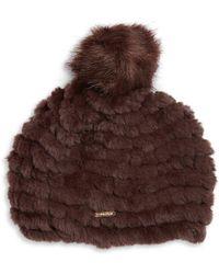 CALVIN KLEIN 205W39NYC - Faux Fur Knit Beanie - Lyst
