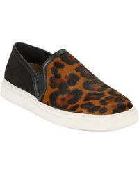 Lord & Taylor - Bailie Leopard Print Calf Hair Slip-on Sneakers - Lyst
