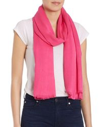Lord & Taylor - Solid Pashmina Scarf - Lyst