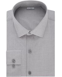 Kenneth Cole Reaction - Slim-fit Cotton-blend Dress Shirt - Lyst