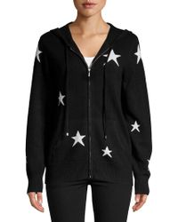Ply Cashmere - Star Printed Cashmere Hoodie - Lyst