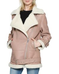 Walter Baker - Adele Leather Faux Fur Jacket - Lyst