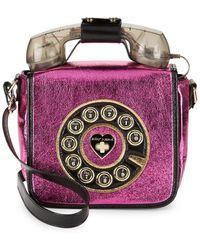 Betsey Johnson | Floral Foil Crossbody Bag | Lyst