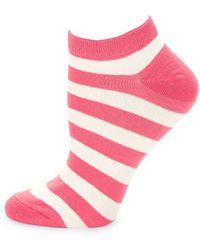 Kate Spade - Stripe Ankle Socks - Lyst