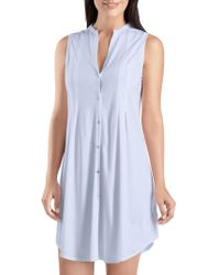 Hanro - Button-front Tank Gown - Lyst
