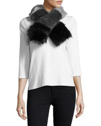 Laundry by Shelli Segal - Three Colour Faux Fur Scarf - Lyst