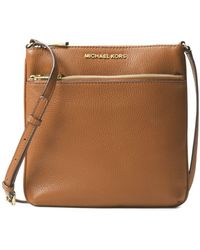 5a312173c231 MICHAEL Michael Kors - Bedford Small Flat Leather Crossbody Bag - Lyst