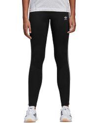 48f392f3fa8565 adidas Originals Originals Adicolor Three Stripe Leggings In Gray in ...