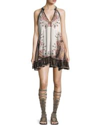 Free People - Ruffled Floral Shift Dress - Lyst