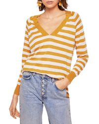 Mango - Penny Striped Jersey Jumper - Lyst