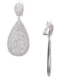 Nina - Adore Swarovski Crystal Clip-on Teardrop Earrings - Lyst