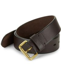 Cole Haan - Beveled Edge Leather Belt - Lyst