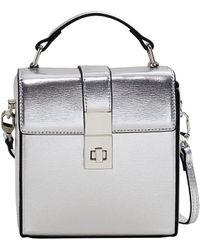 Mango - Faux Leather Coffer Bag - Lyst