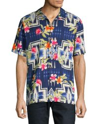 Tommy Bahama - Pendleton Aloha Harding Silk Camp Button-down Shirt - Lyst