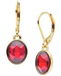 Anne Klein - Oval Drop Earrings - Lyst