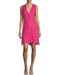 Laundry by Shelli Segal - Lace Fit-and-flare Dress - Lyst