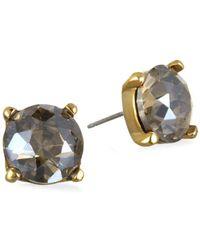 Badgley Mischka - Faceted Stud Earrings - Lyst