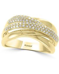 Effy D' Oro 14k Yellow Gold & 0.31 Tcw Diamond Ring - Metallic