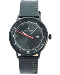Lucky Brand - Fairfax Side Stitch Stainless Steel & Leather-strap Watch - Lyst